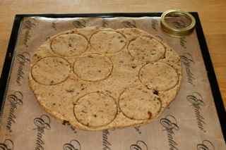 Raw almond & coconut fruit cookies